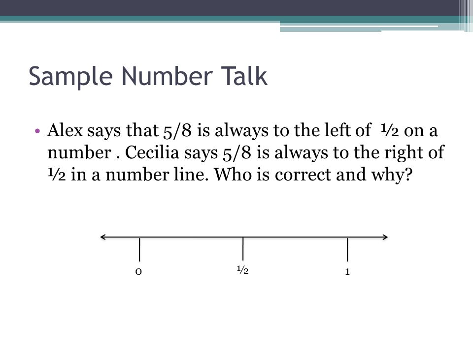 Sample Number Talk