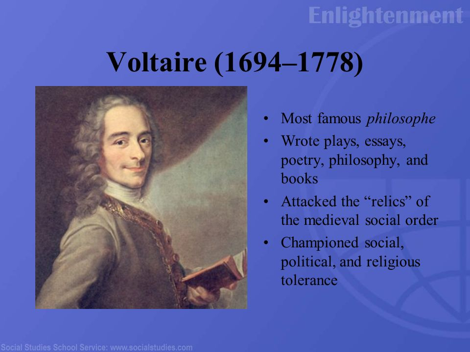 Voltaire Additional Biography