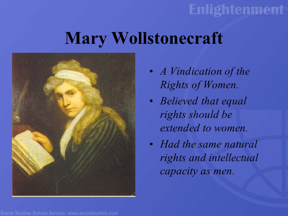 Mary Wollstonecraft and the Early Women's Rights Movement