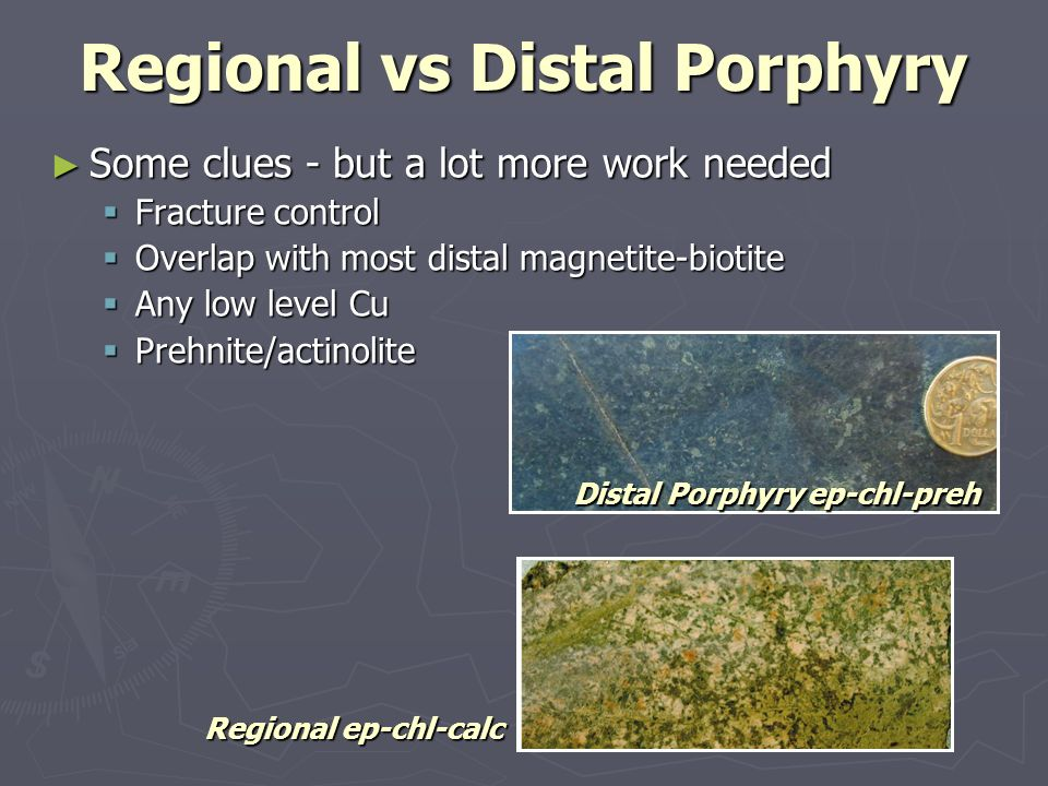 Regional vs Distal Porphyry