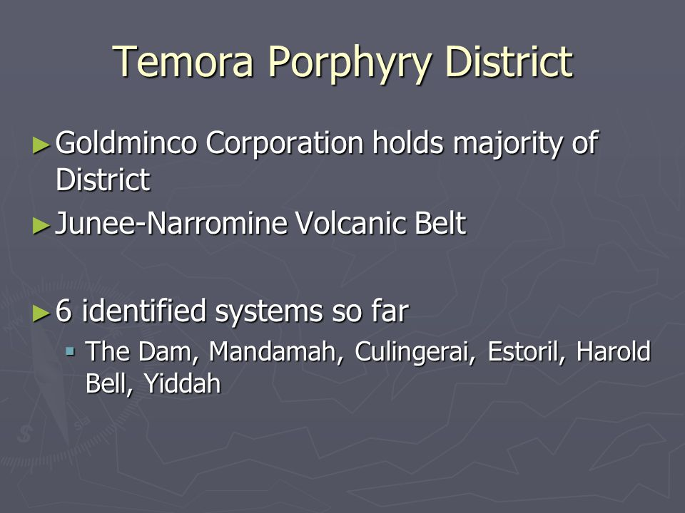 Temora Porphyry District