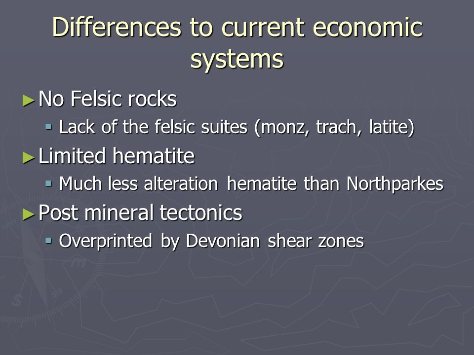 Differences to current economic systems