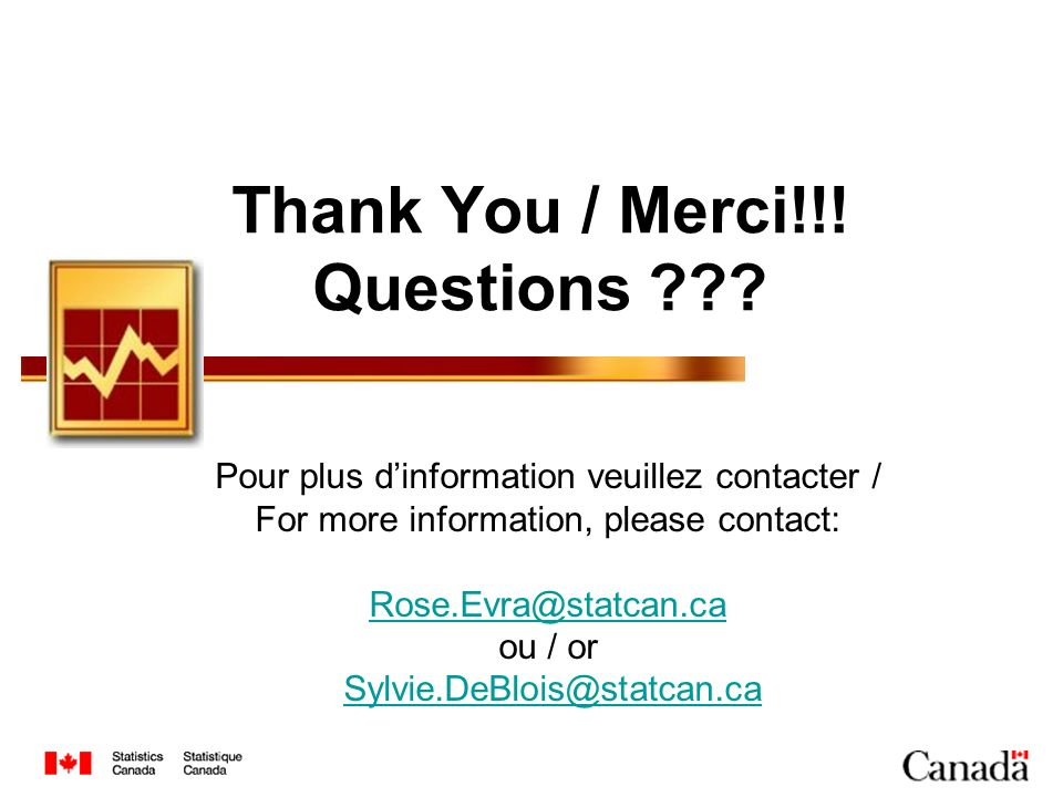 Thank You / Merci!!! Questions