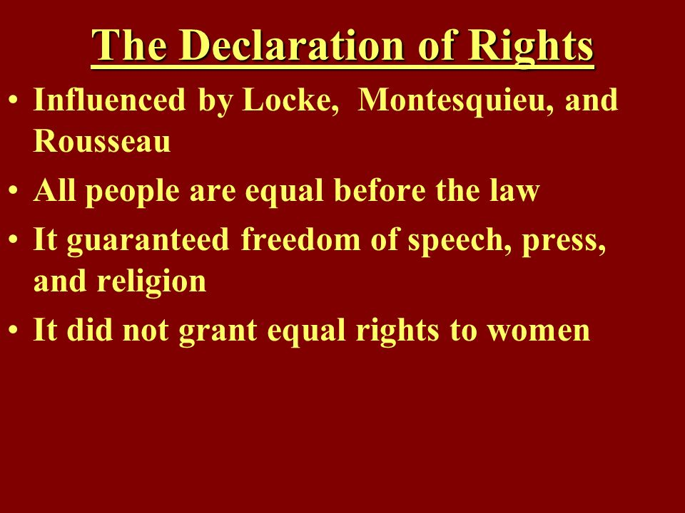The Declaration of Rights