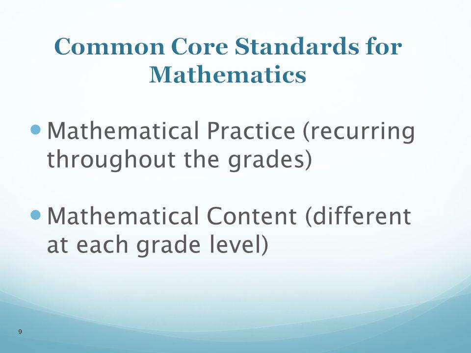 Common Core Standards for Mathematics