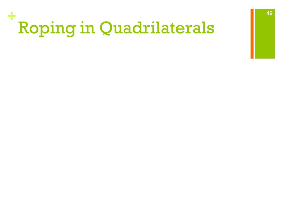 Roping in Quadrilaterals