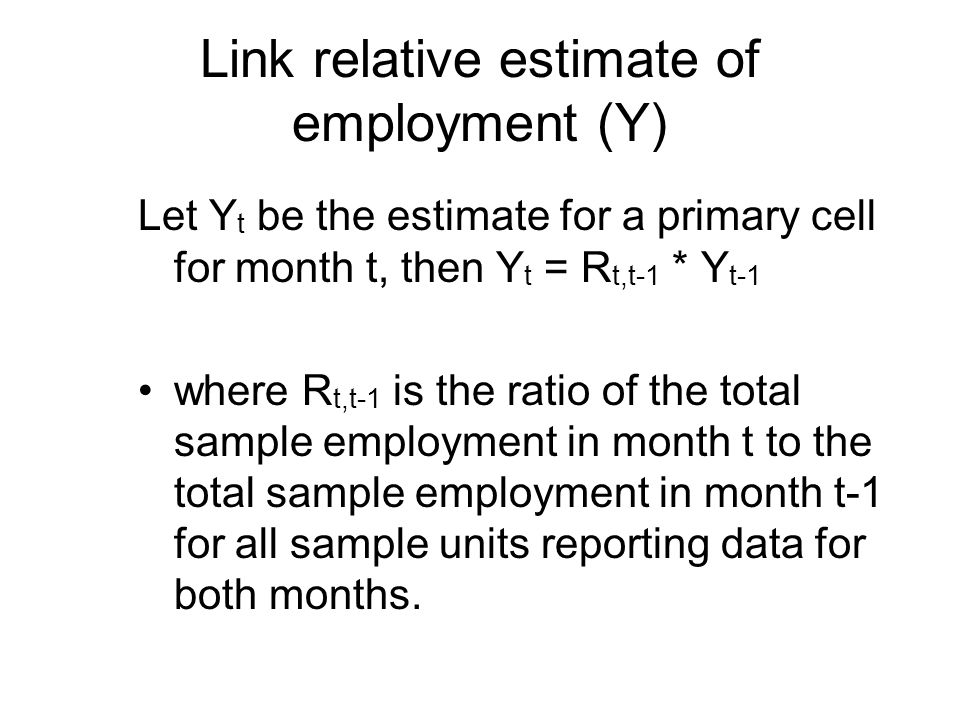 Link relative estimate of employment (Y)