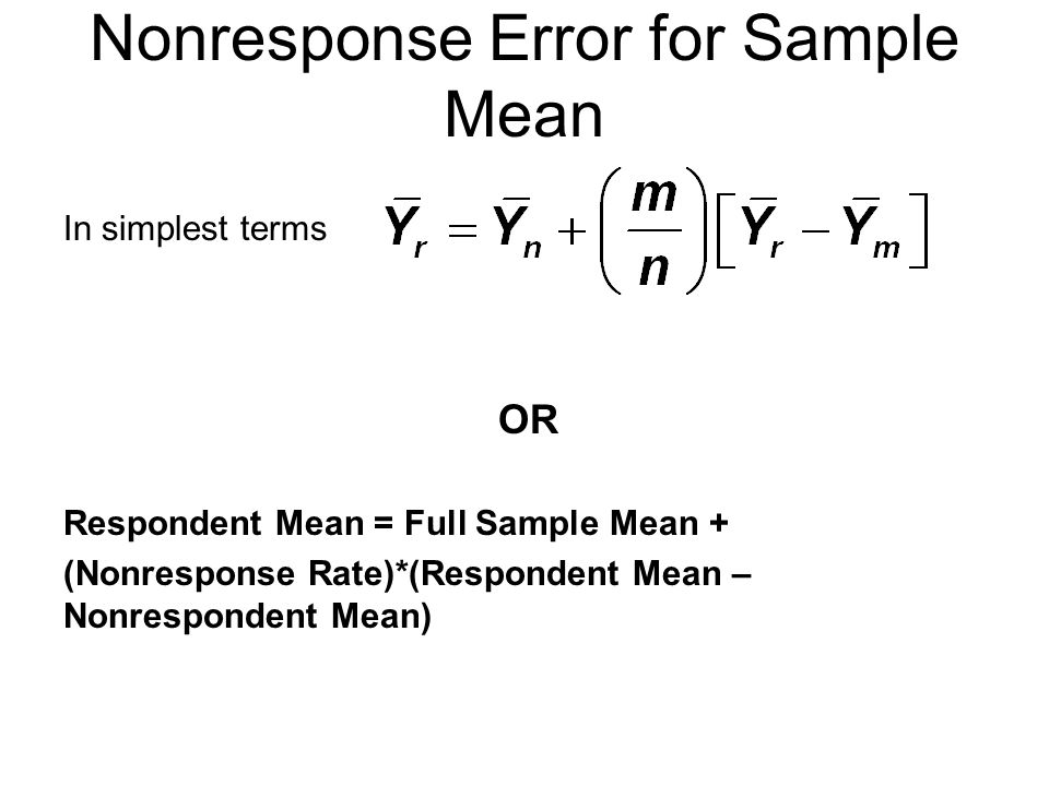 Nonresponse Error for Sample Mean