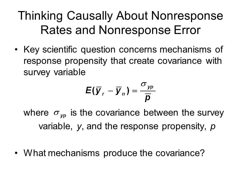 Thinking Causally About Nonresponse Rates and Nonresponse Error