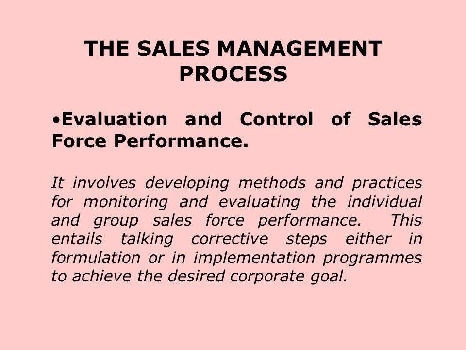 the evaluation and control process Evaluation and control process 1 determine what to measure 2 establish predetermined standards 3 measure performance 4 5 no take corrective action.
