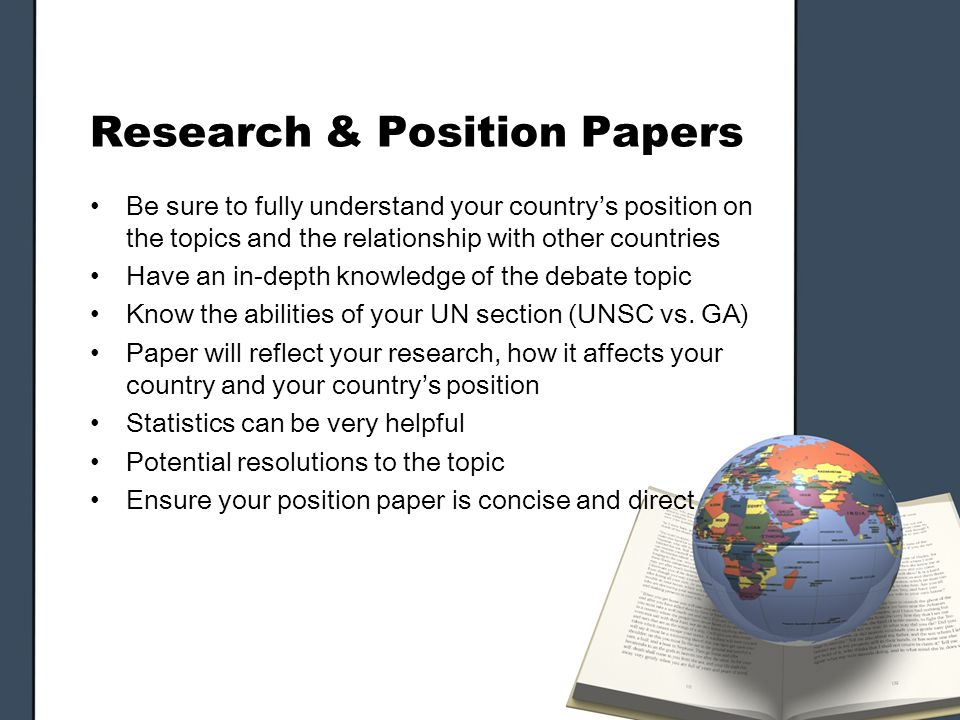 Position paper in research