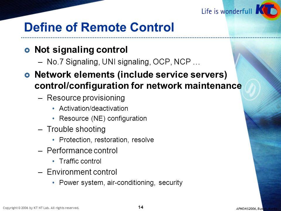 Define of Remote Control