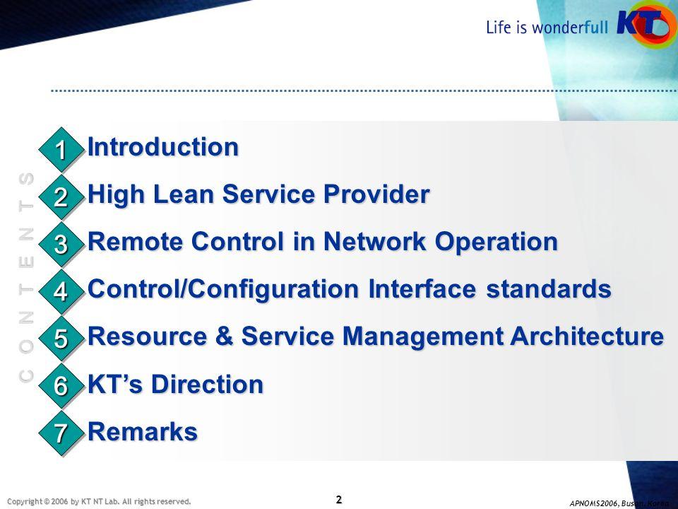 High Lean Service Provider Remote Control in Network Operation