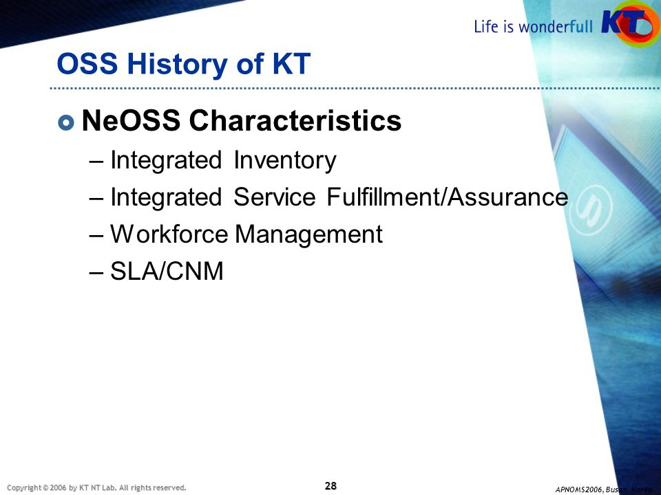 NeOSS Characteristics