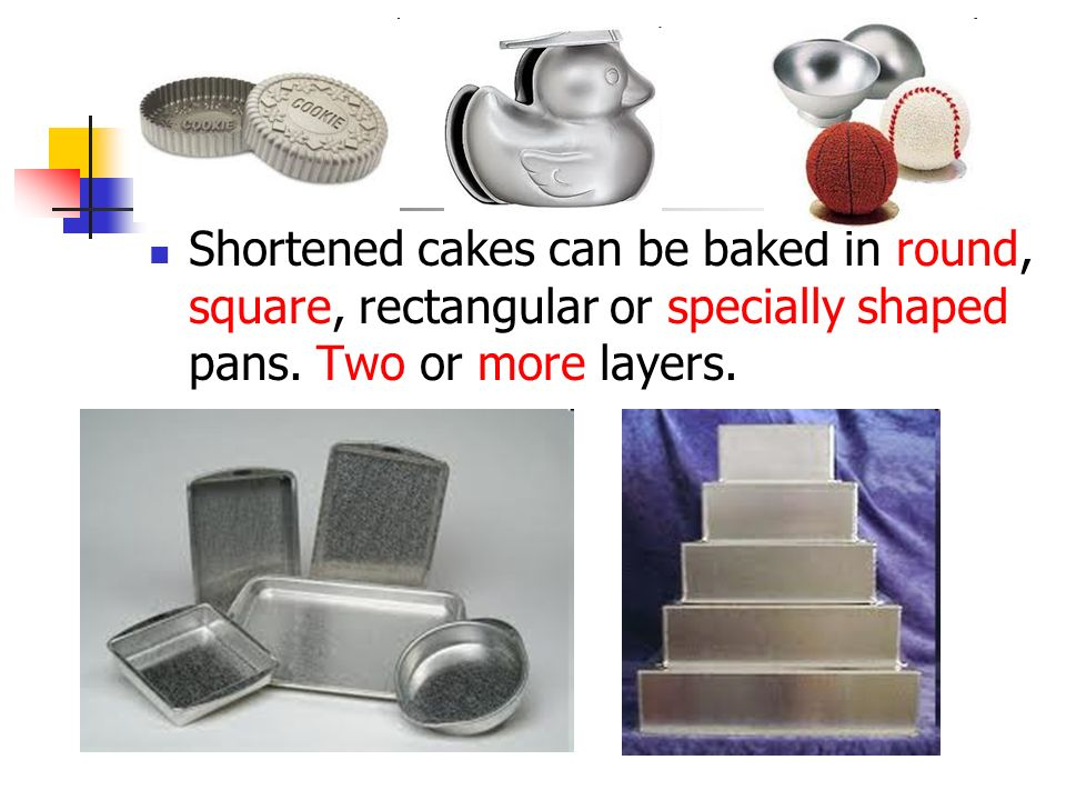 Two Methods For Making A Shortened Cake