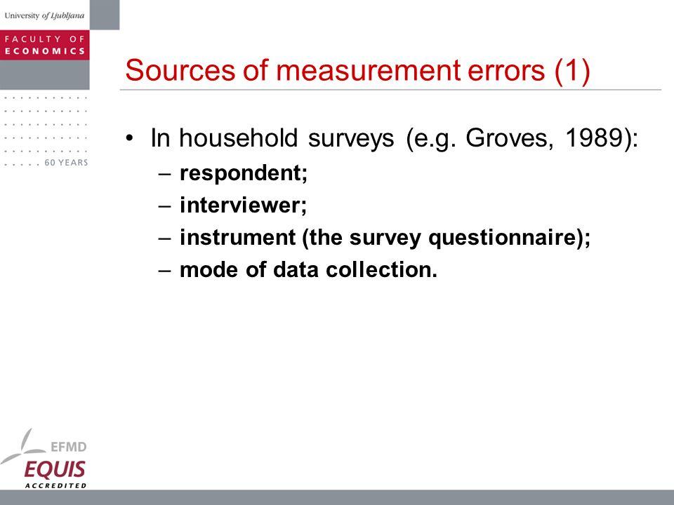 Sources of measurement errors (1)