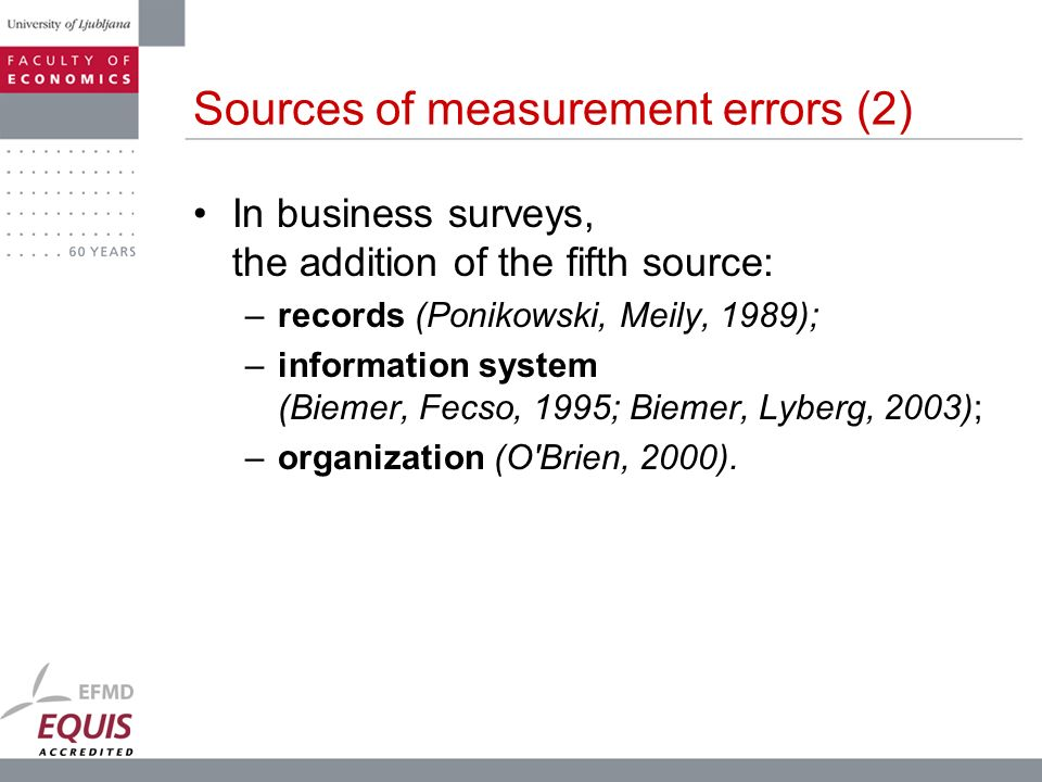 Sources of measurement errors (2)