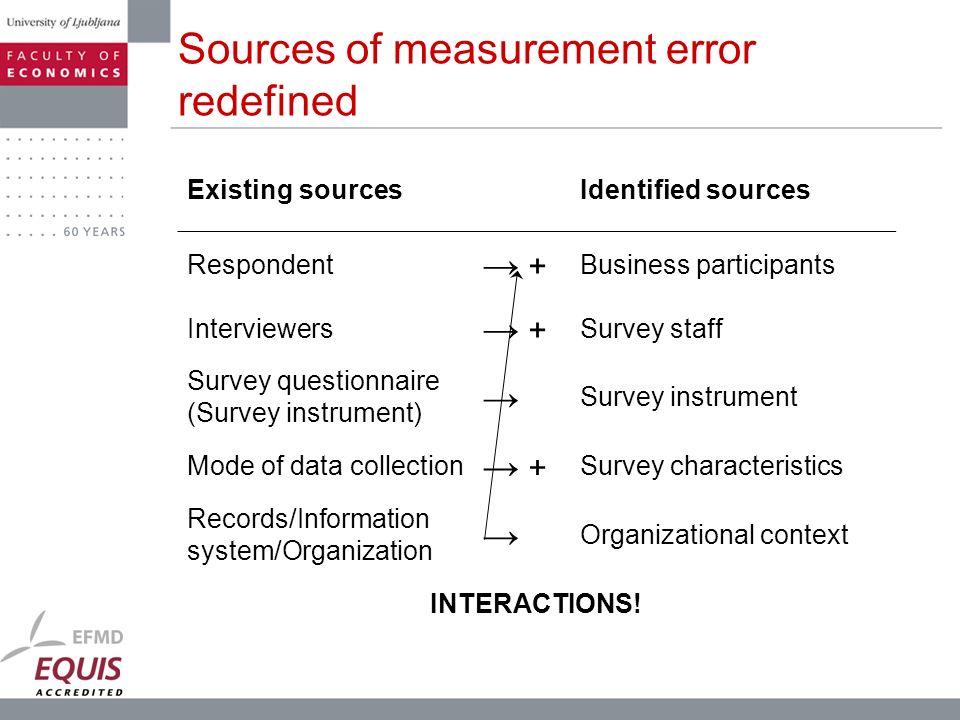 Sources of measurement error redefined
