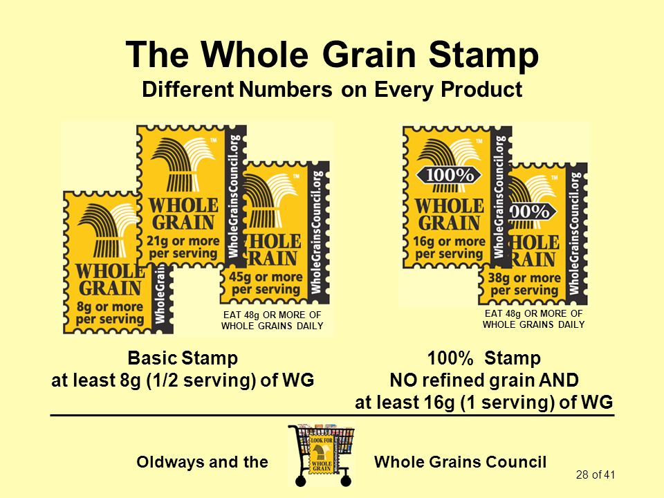The Whole Grain Stamp Different Numbers on Every Product
