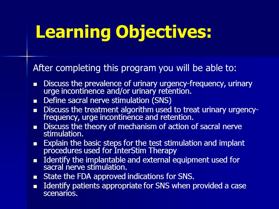 Learning Objectives: After completing this program you will be able to: