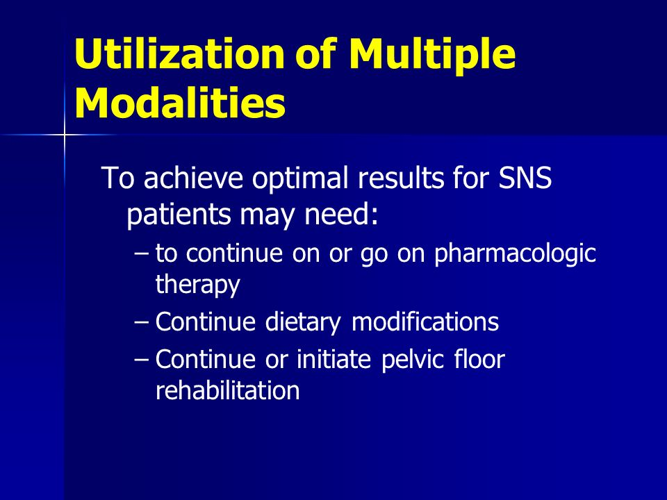 Utilization of Multiple Modalities
