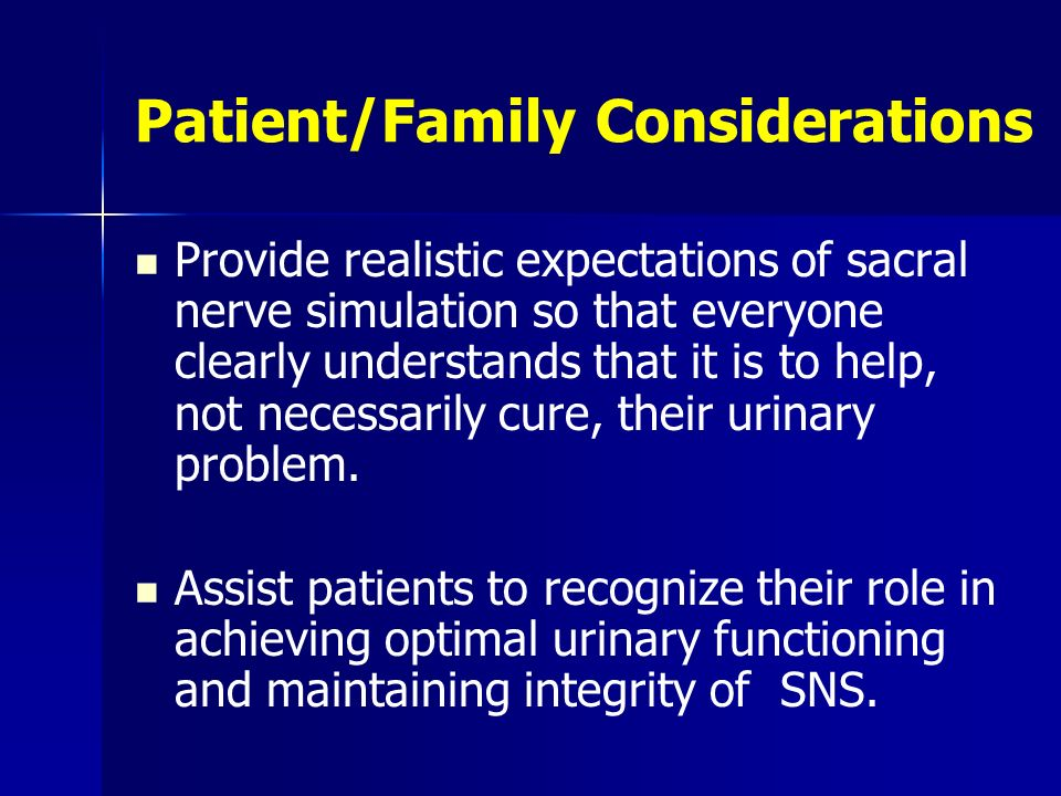 Patient/Family Considerations