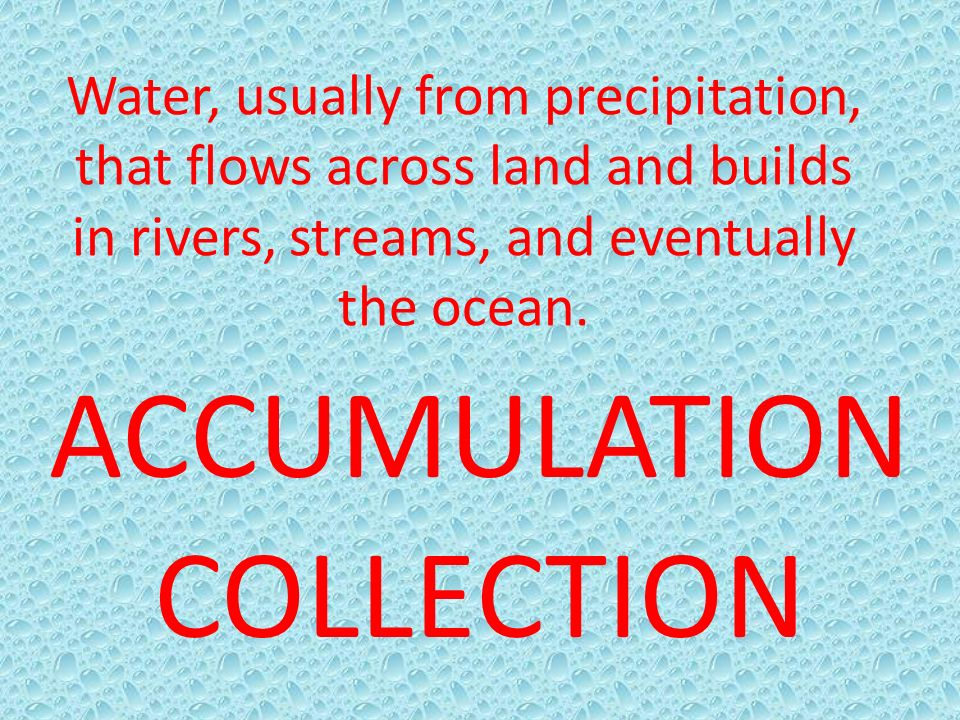 ACCUMULATION COLLECTION