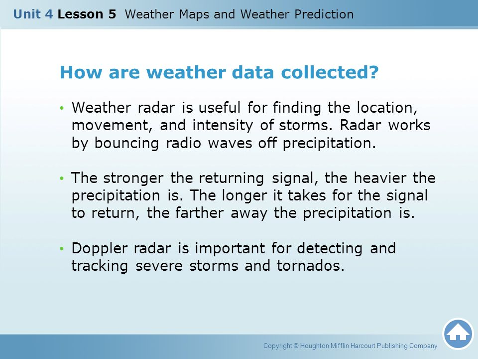 How are weather data collected