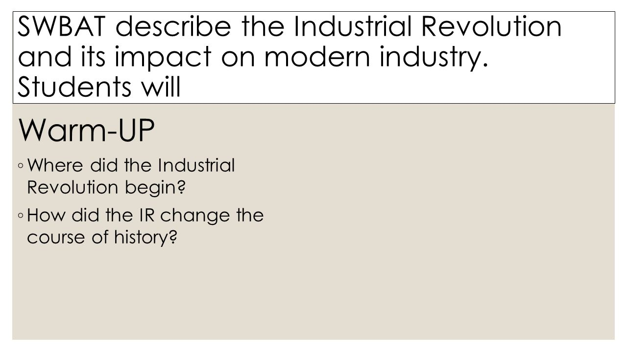 the industrial revolution and its impact The industrial revolution and its impact on european society learn with flashcards, games, and more — for free.