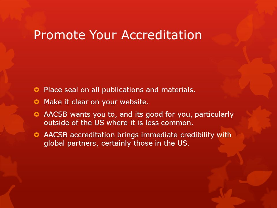 Promote Your Accreditation
