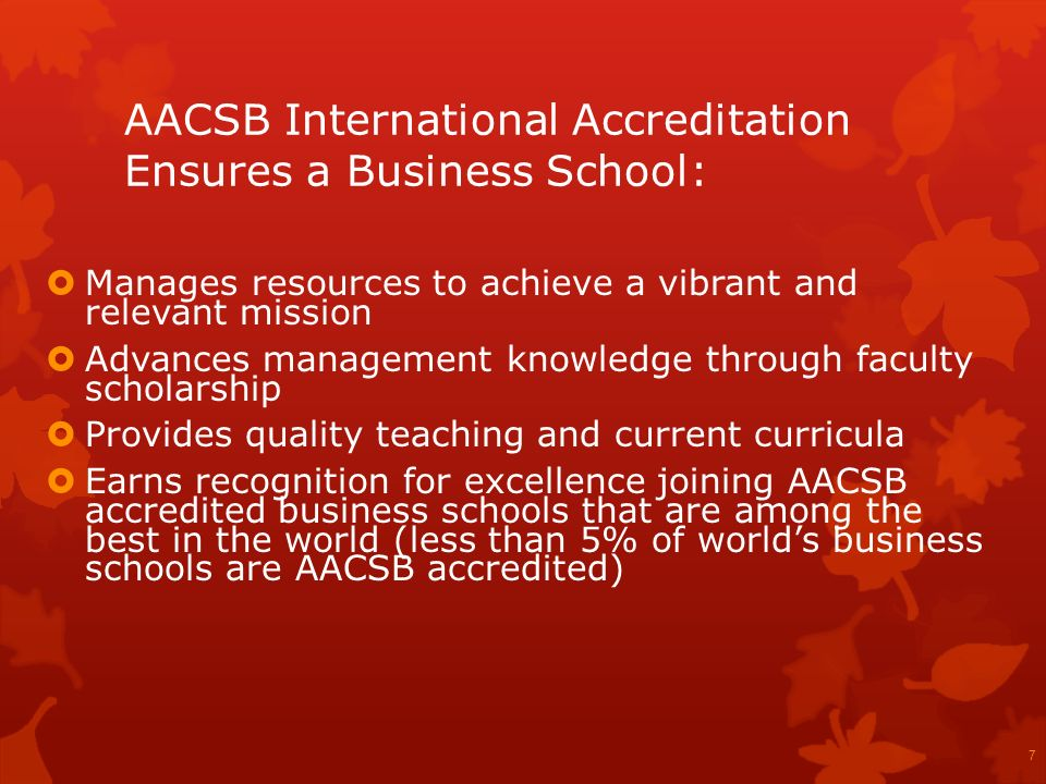 AACSB International Accreditation Ensures a Business School: