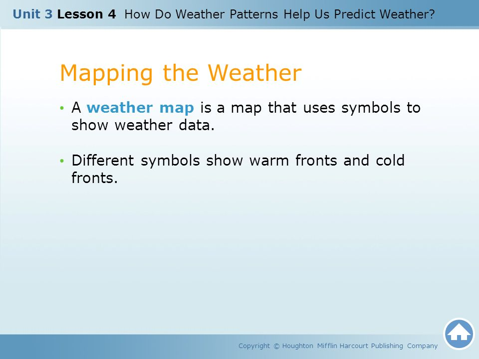 Unit Lesson How Do Weather Patterns Help Us Predict Weather - Map of weather patterns in the us