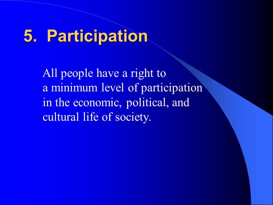 5. Participation
