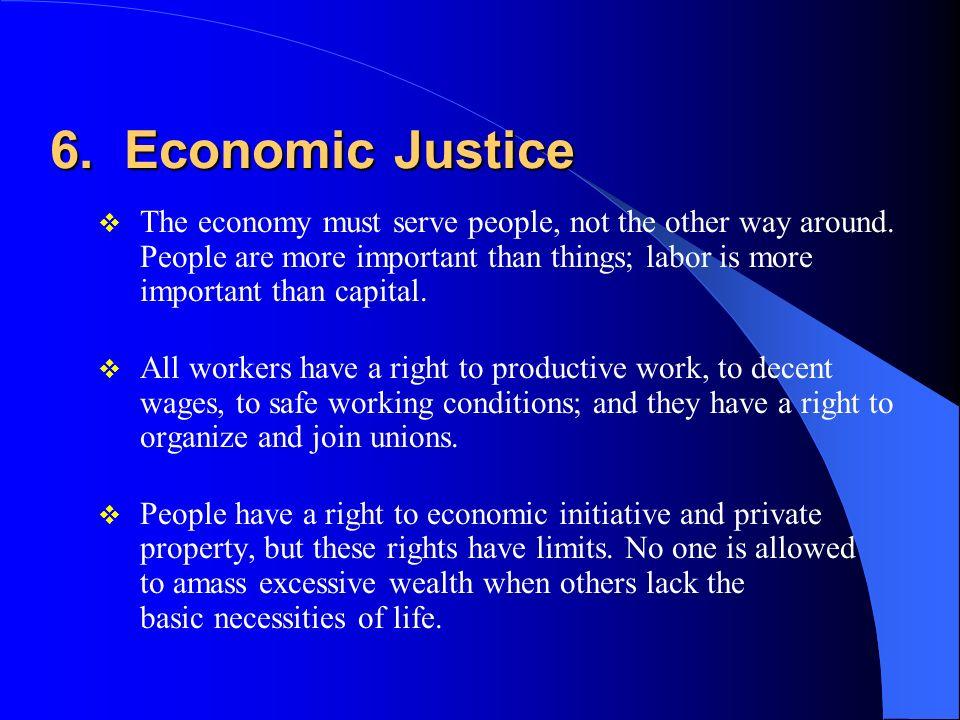6. Economic Justice