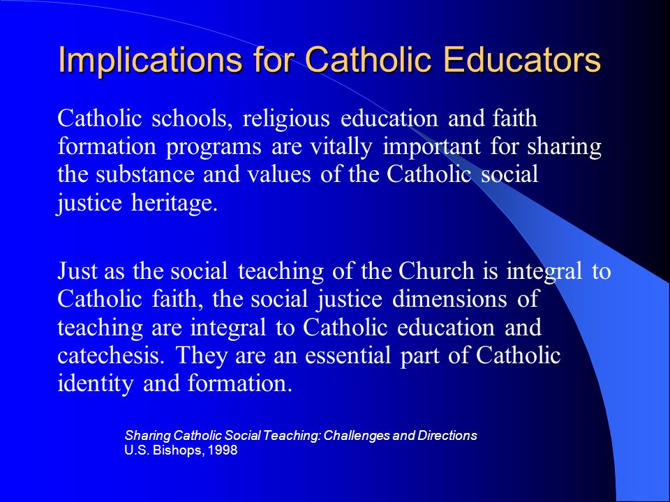Implications for Catholic Educators