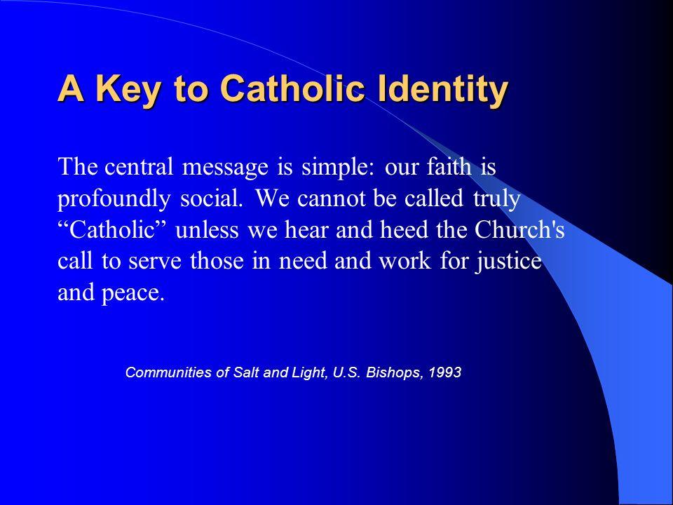 A Key to Catholic Identity