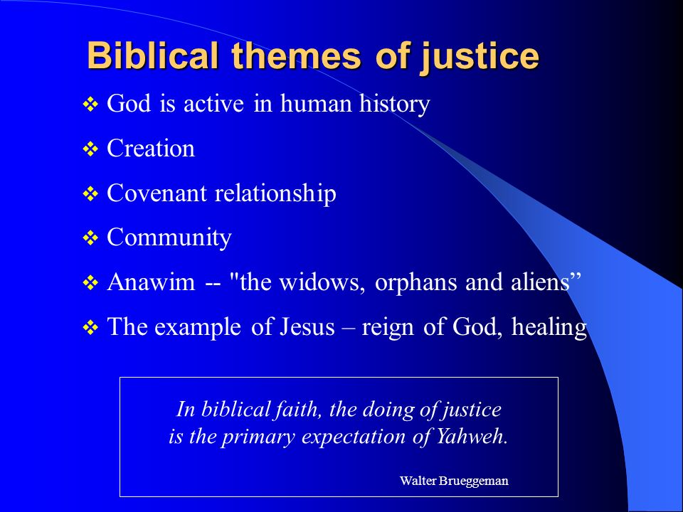 Biblical themes of justice
