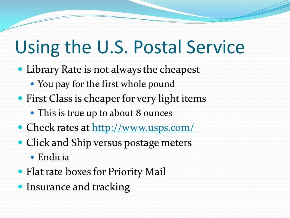 Using the U.S. Postal Service