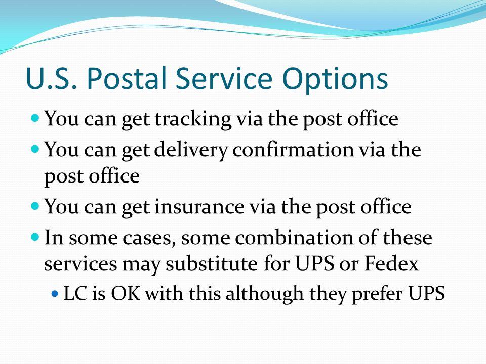 U.S. Postal Service Options