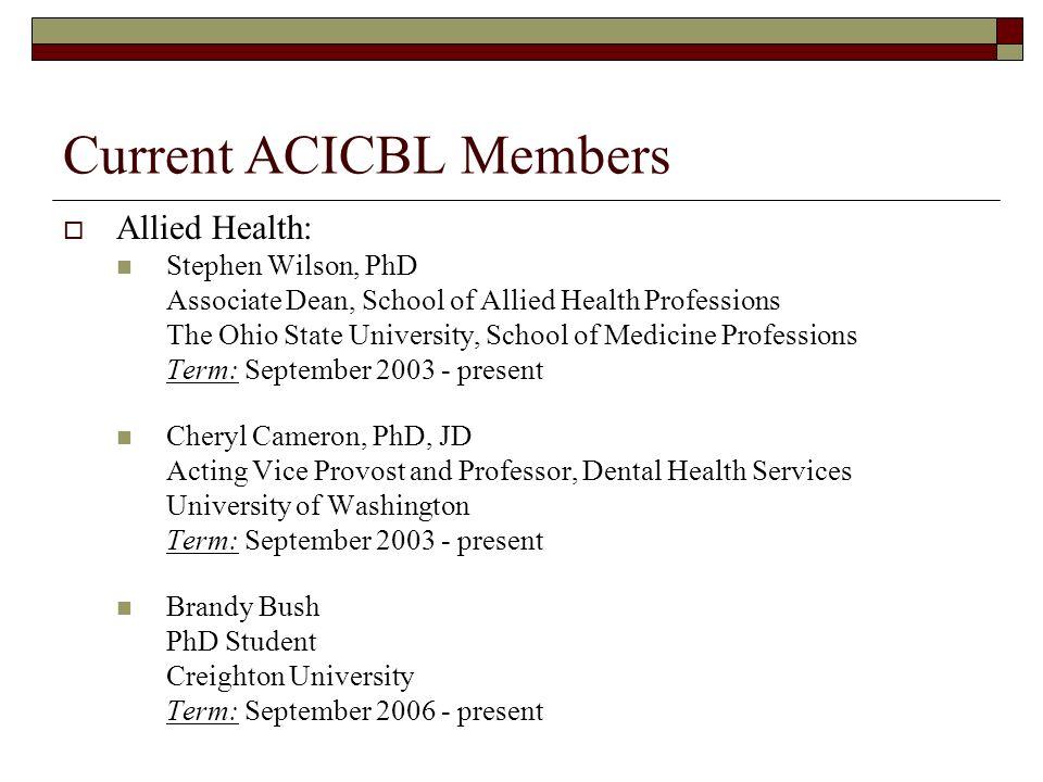 Current ACICBL Members