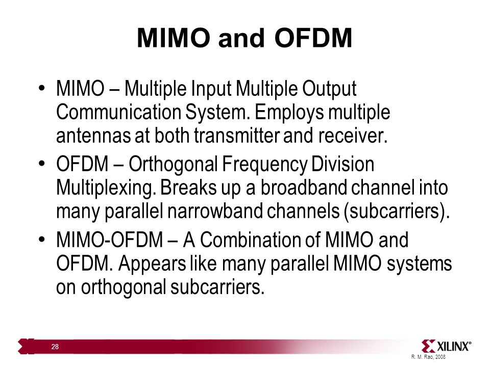 Basics of MIMO Radio Systems