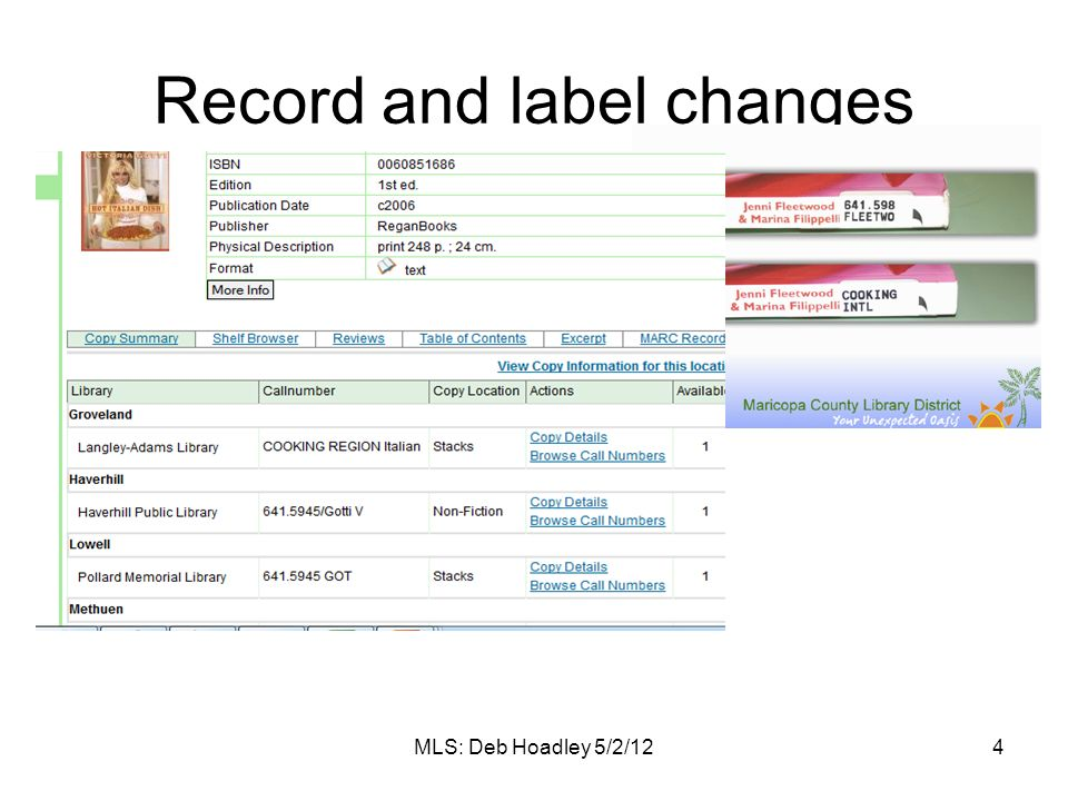 Record and label changes