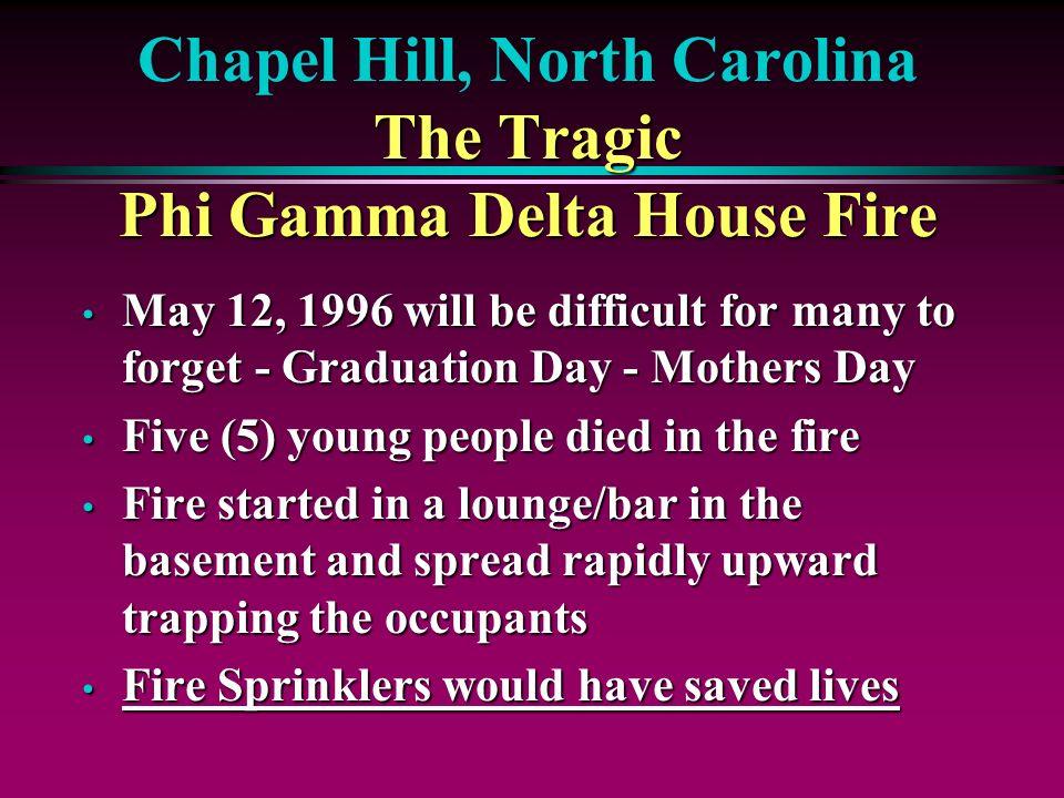 Chapel Hill, North Carolina The Tragic Phi Gamma Delta House Fire