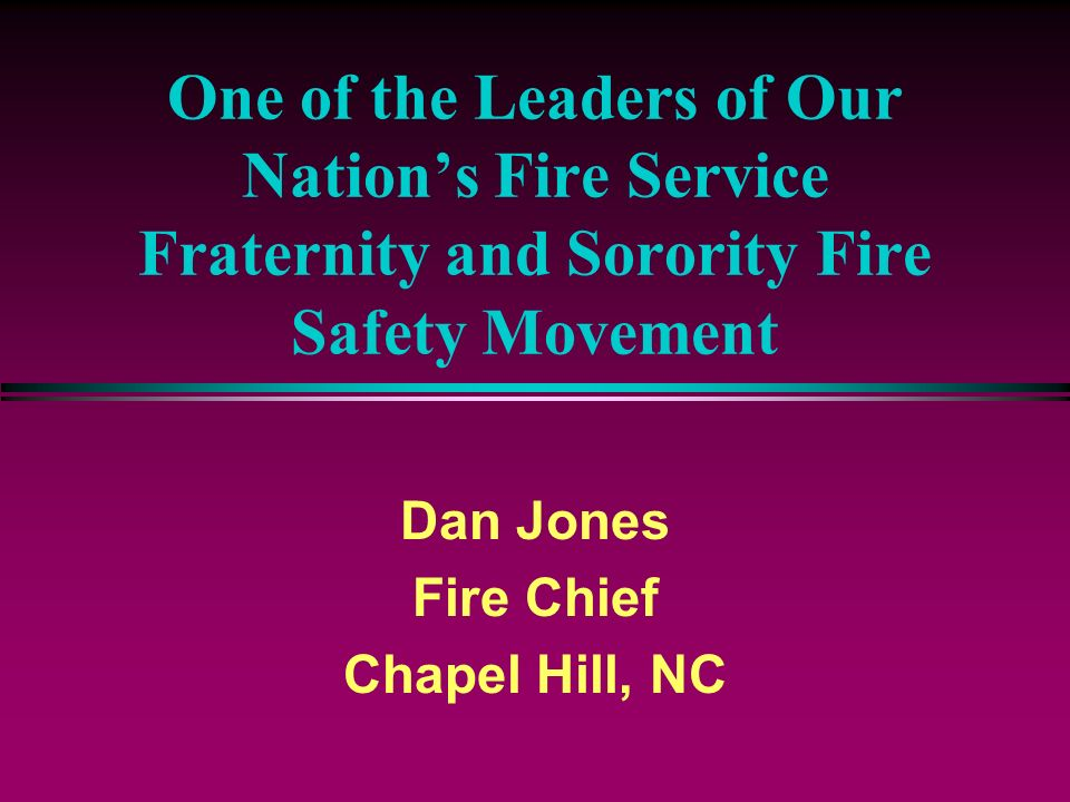 Dan Jones Fire Chief Chapel Hill, NC