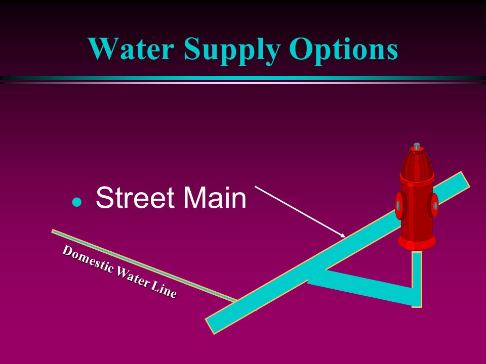 Water Supply Options Street Main Domestic Water Line