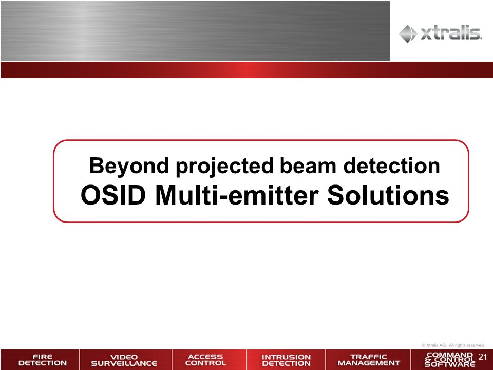 Beyond projected beam detection OSID Multi-emitter Solutions