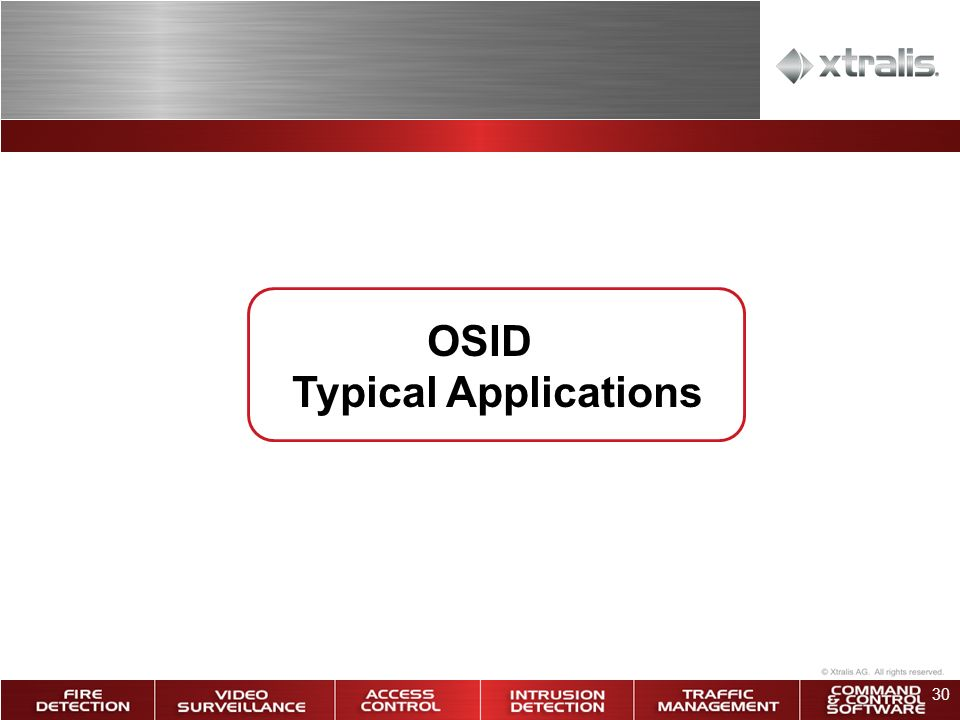 OSID Typical Applications