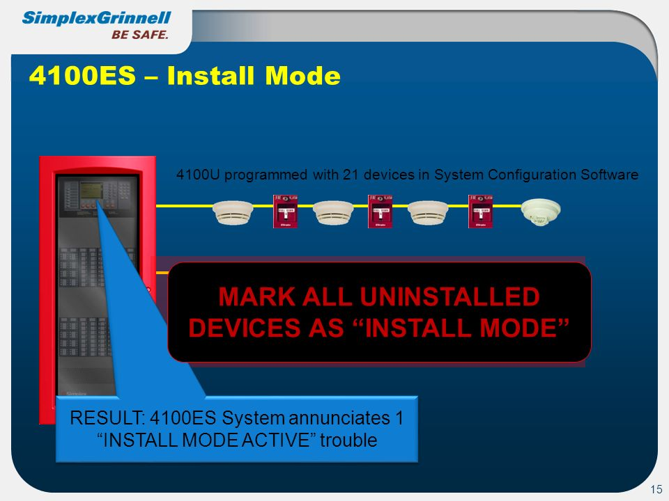 MARK ALL UNINSTALLED DEVICES AS INSTALL MODE