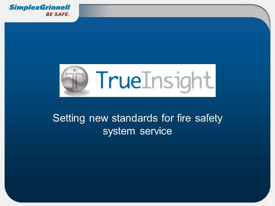 Setting new standards for fire safety system service