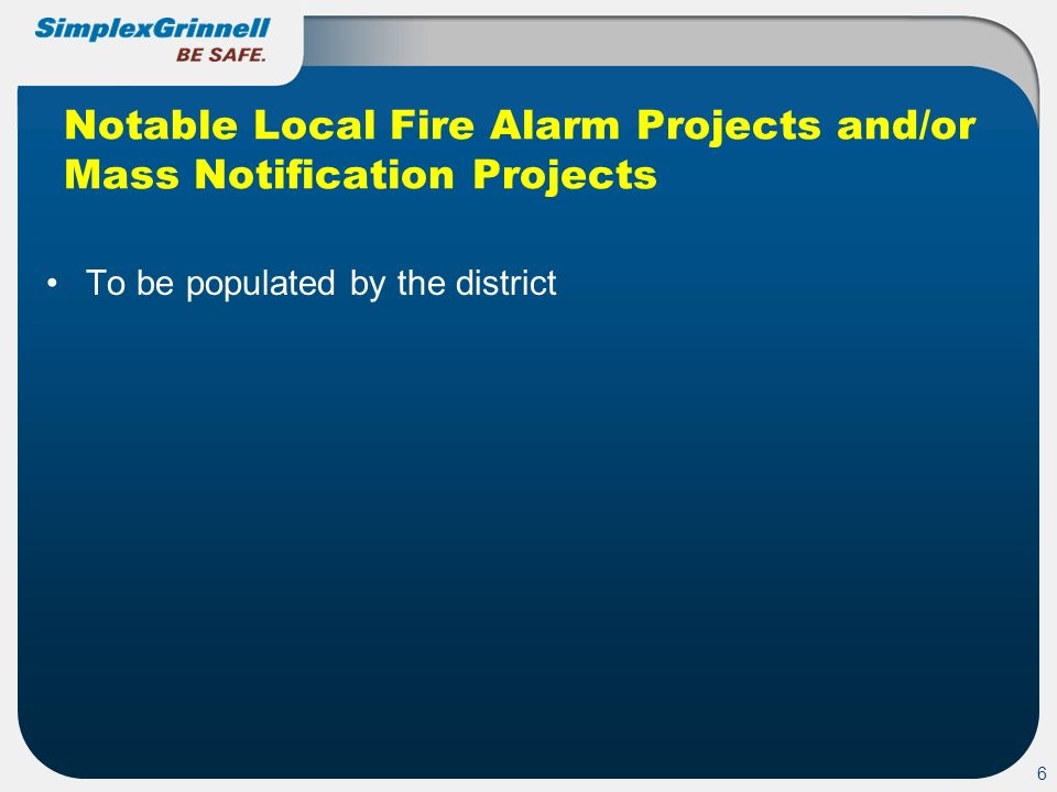 Notable Local Fire Alarm Projects and/or Mass Notification Projects